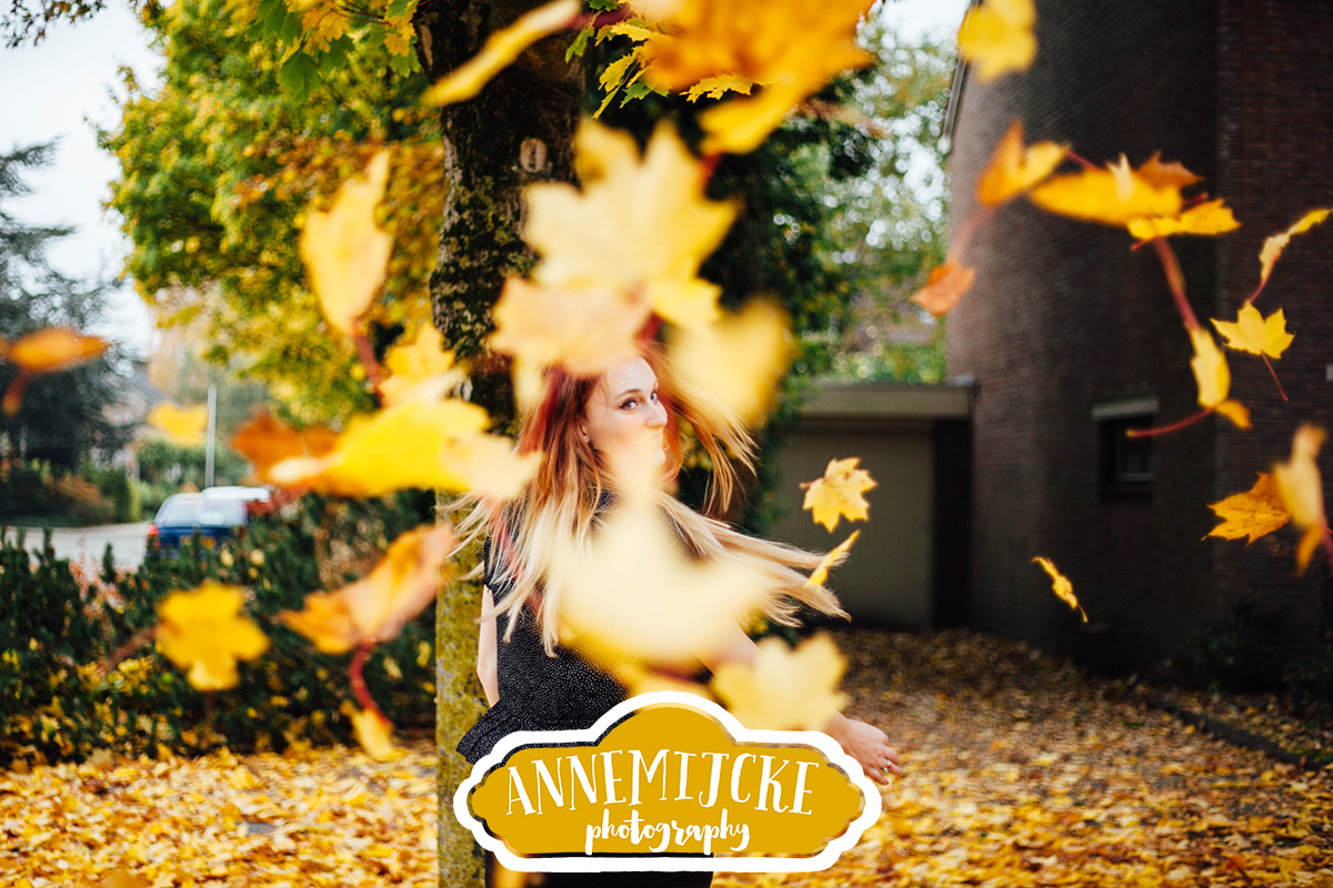 Portret fotoshoot herfst Assen