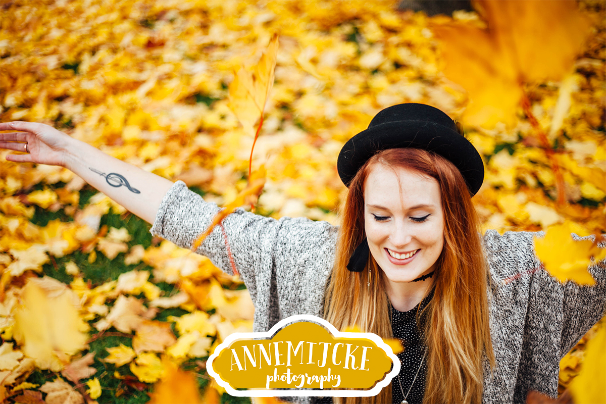 Kleurrijke fotoshoot herfst Assen