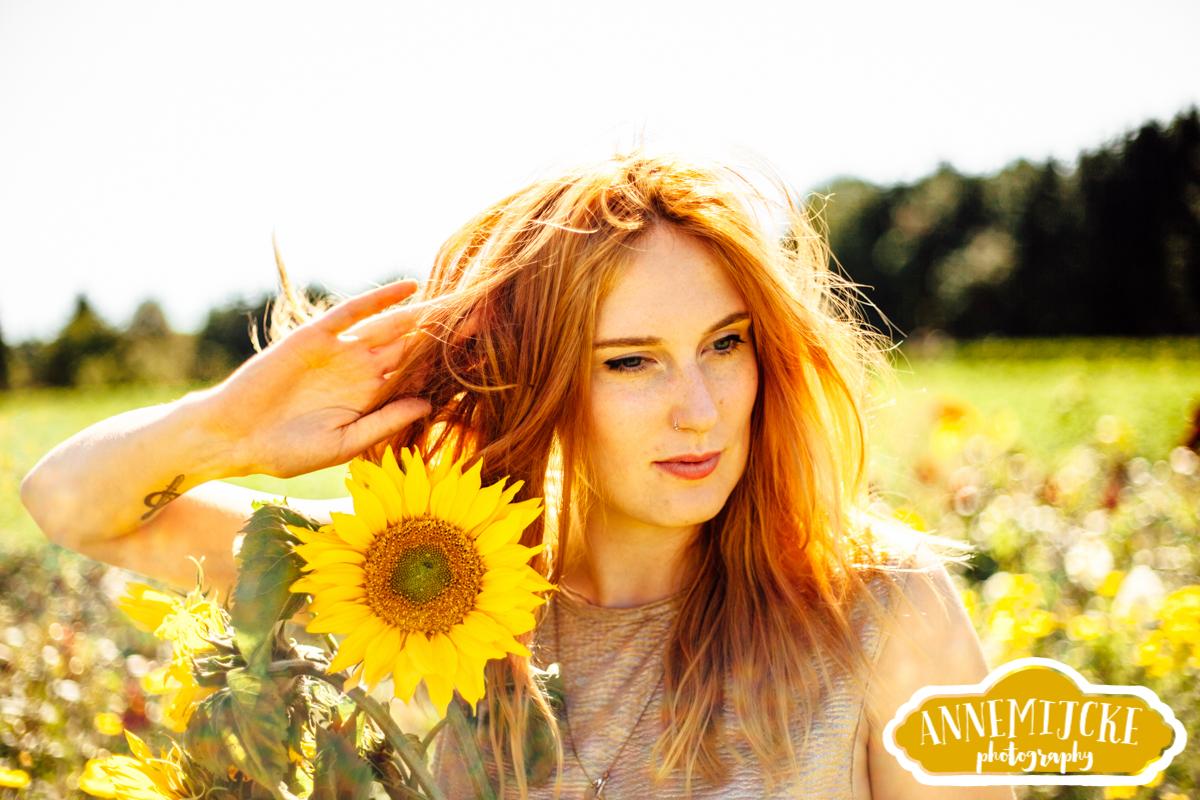 Fotoshoot zonnebloemen door Annemijcke Photography